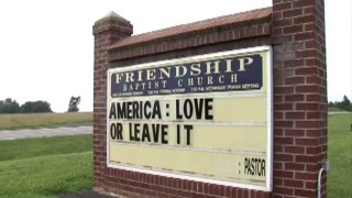 Love It or Leave It Church Sign