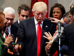 Trump Evangelical Prayer Washington Post