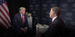 Trump SS Interview Davos LA Times