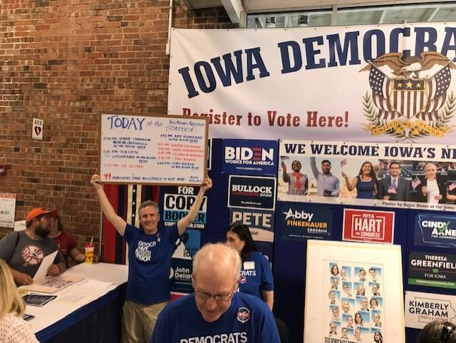 Iowa Democrats State Fair Booth August 2019