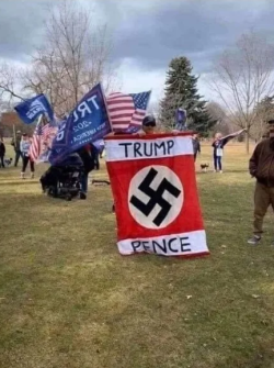 Nazi Flag Trump Pence Idaho 2020