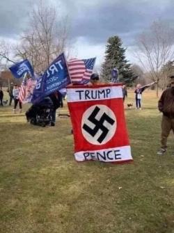 Nazi Flag Trump Pence Idaho 2020