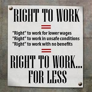 Right to Work for Less