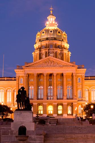 Iowa Capitol night