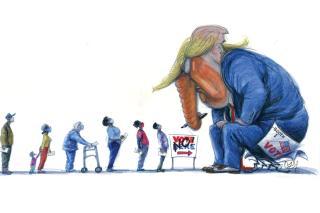 Voter Supression Rolling Stone Comic