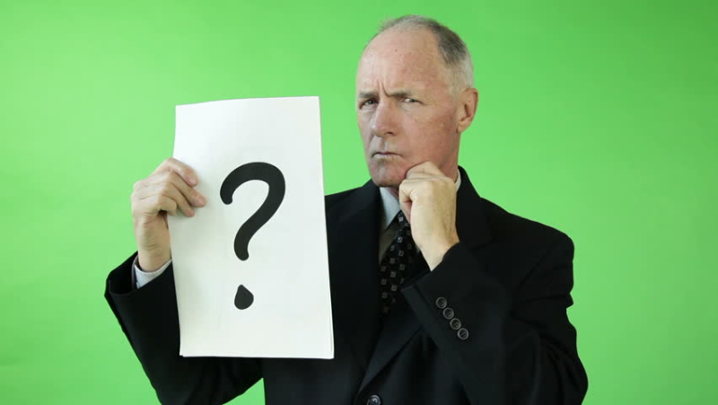 Man Confused Question mark