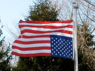 US Flag upside down