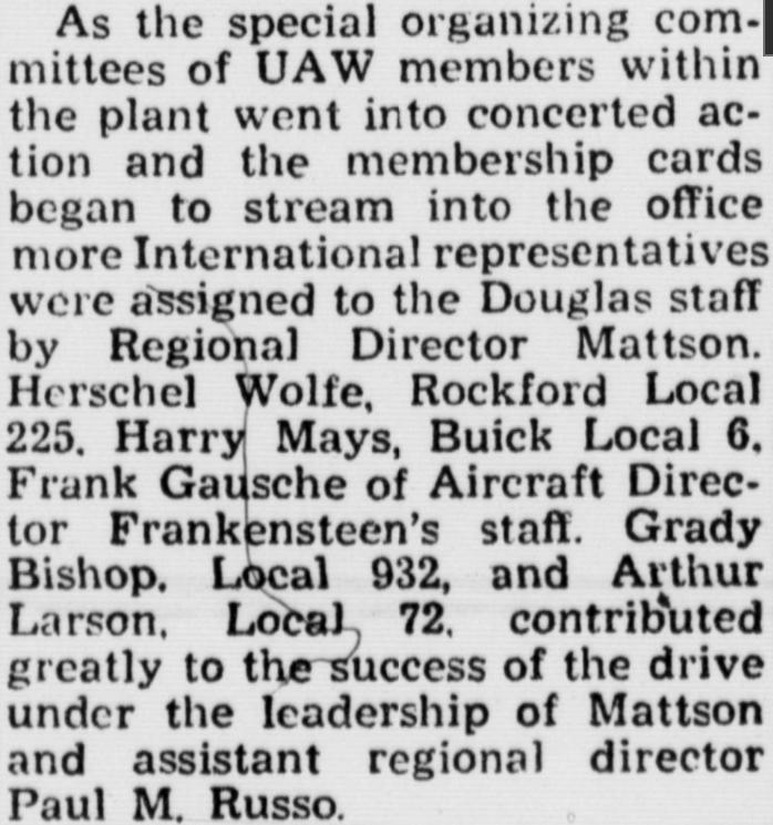 Frank Gausche News Douglas Union
