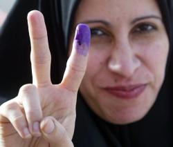 Voting Blue Finger Iraq Denver Post