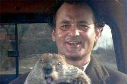 Bill Murrey Groundhog Day.
